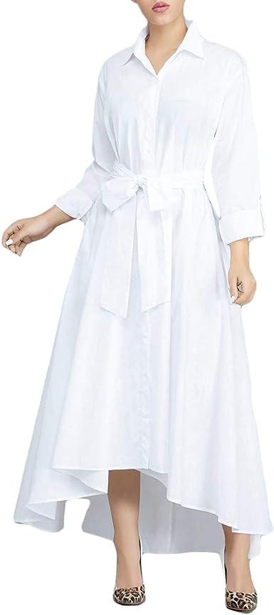 Veste courte ou robe longue en coton blanc à manches longues