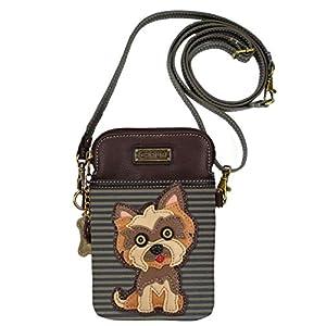 Chala Handbags Yorkshire Terrier Cellphone Crossbody Handbag - Convertible Strap Yorkie Mom 1