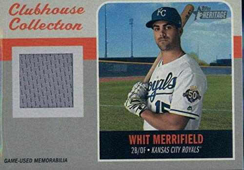 2019 Topps Heritage Clubhouse Collection Relics #CCR-WME Whit Merrifield MEM Royals Baseball MLB from Heritage Products