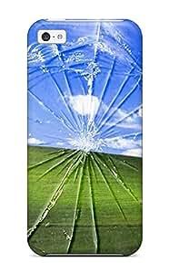Iphone 5c Funny Broken Window Print High Quality Tpu Gel Frame Case Cover