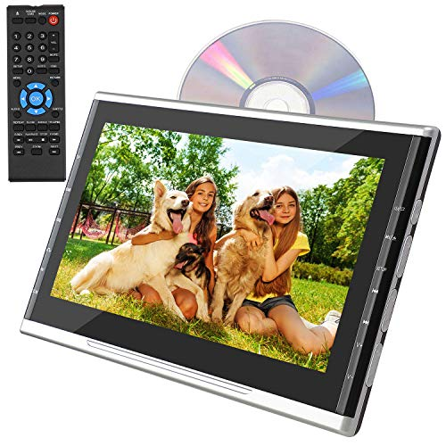 WKLTD Portable Car DVD Player for Kids,10.1 Inch Car Headrest DVD Player,DVD Player for Headrest Support 1080P Video,HDMI Input,Sync Screen,AV Out&in,Region Free,USB/TF Support, Last Memory