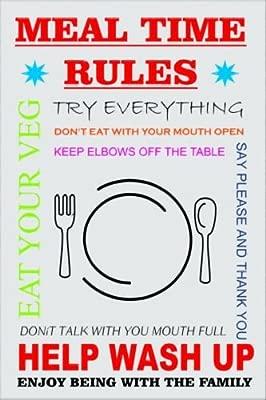 Acrílico imán para nevera 4224 comida tiempo reglas marca nueva ...