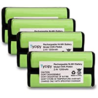 Tycipy 4Pack Rechargeable Ni-MH Replacement Phone Battery for Panasonic HHR-P546A KX-TG1050N KX-TGA100N KX-TGA420B