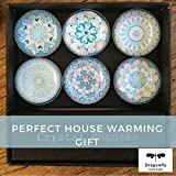 Mandala Fridge Magnets - 6 Pack Box Set for