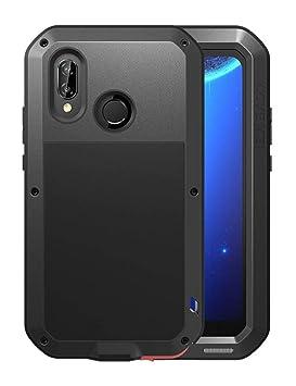 Fonrest Huawei P20 Pro Funda, 6.1-Pulgada Love Mei Antichoque Al Aire Libre Tarea Pesada Híbrido Aluminio Metal Armadura Antipolvo Carcasas con ...
