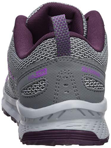 New Balance Women's 590v4 FuelCore Trail Running Shoe Gunmetal/Dark Current/Voltage Violet 5.5 B US by New Balance (Image #2)
