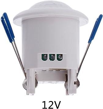 12V Wired Indoor Top Ceiling Mounted 360 Degree Passive PIR Infrared Motion Detection Sensor Alarm Anti-EMI Binary Pyroelectric Sensors Low Noise High Sensitivity Pir Motion Sensor