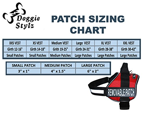 Product image of Doggie Stylz Set of 2 Reflective IN TRAINING Removable Patches for Service dog harnesses & vests.