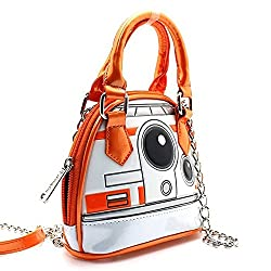 Loungefly X Star Wars BB8 Micro Mini Dome Crossbody Bag in Orange/White