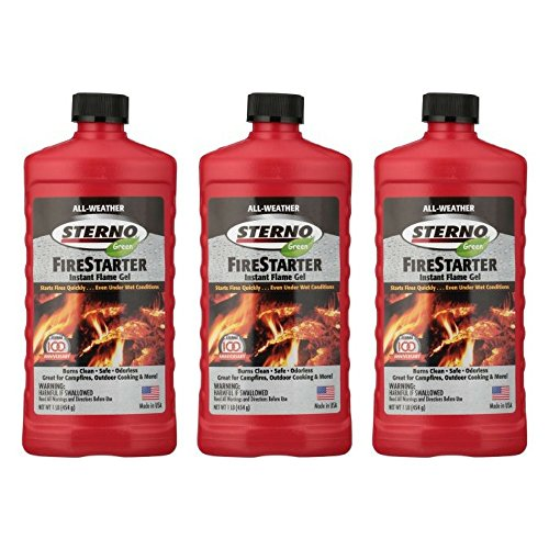 Sterno 20216 All-Weather Instant Flame Gel Fire Starter (3 pack) Review