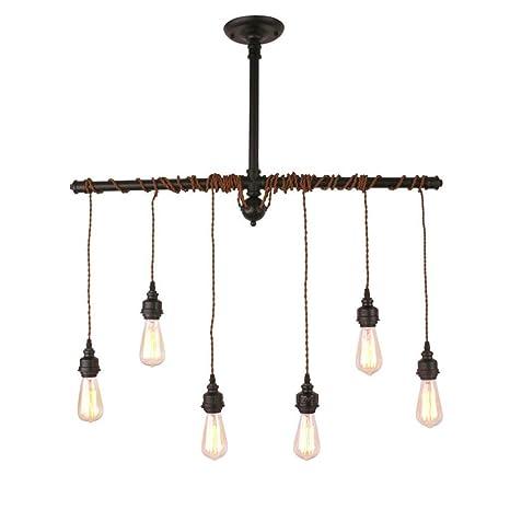 Retro Pendel Leuchte schwarz Hänge Lampe verstellbar Wohn Ess Raum Beleuchtung