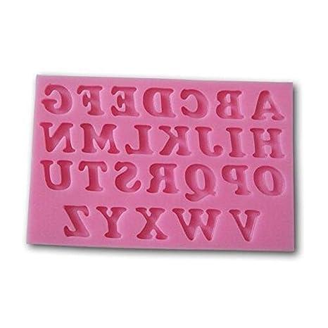 Isuper 1 Pack Antiadherente de Silicona Torta del Molde de Las Letras del Alfabeto en Forma