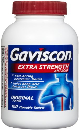 Gaviscon Extra Strength Chewable Antacid Tablets-100 ct.