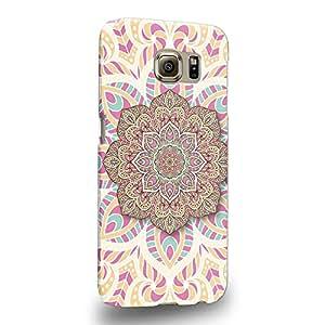 Case88 Premium Designs Art Arabesque Design Mandala A Protective Snap-on Hard Back Case Cover for Samsung Galaxy S6 (Not S6 Edge !)