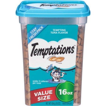Pack of 5 - TEMPTATIONS Classic Treats for Cats Tempting Tuna Flavor 16 Ounces - 80