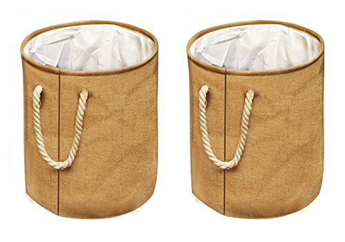 Inspiration Foldable Laundry Hamper - Durable Clothes Bag with Handles for Convenient Carrying - Easily Transport Laundry - Foldable Design Perfect for Dorms and Travel (2 Pack) by Inspiration