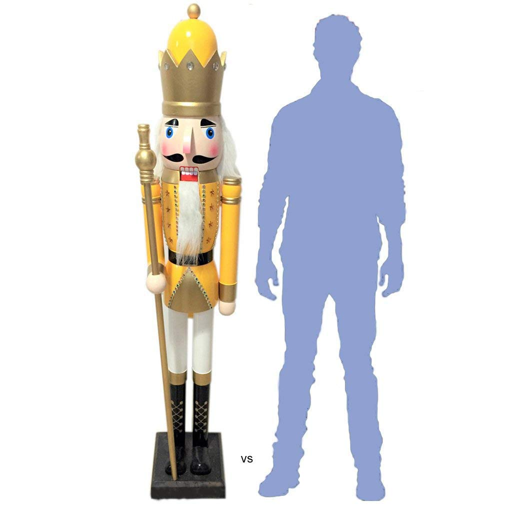 CDL 6 Feet Tall Christmas Wooden Nutcracker King 026