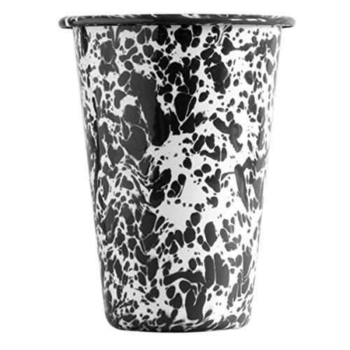 Enamelware 14 Ounce Tumbler - Black (Marble Enamelware)
