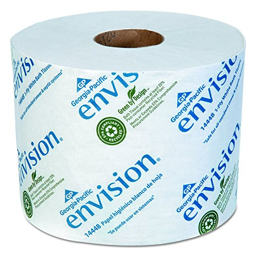 Envision 1-Ply Toilet Paper by way of GP PRO (Georgia-Pacific), 14448/01, 1,500 Sheets Per Roll, 48 Rolls Per Case, White