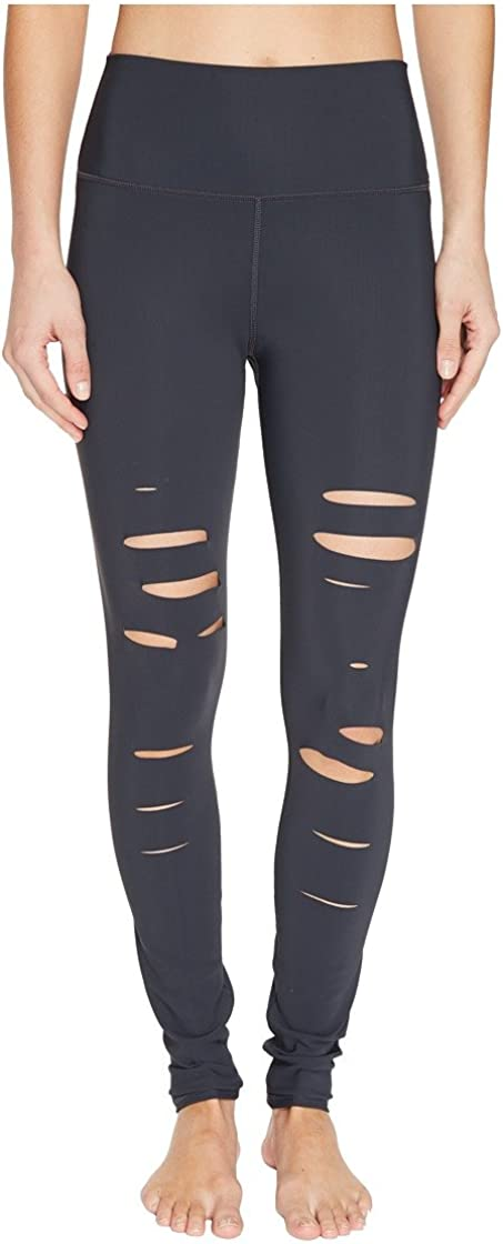 Image of ALO Ripped Warrior Leggings Anthracite XXS