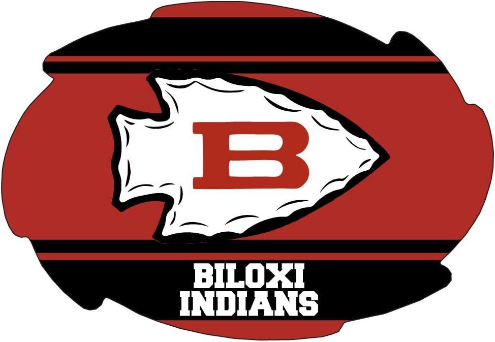 Amazon Com R And R Imports Inc Biloxi High School Indians Mississippi Sports Team 5x6 Inch Swirl Car Fridge Magnet Sports Outdoors