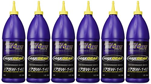 Royal Purple 01301 Max-Gear Synthetic Gear Lube Oil 75W140 Pack of 6 Quarts (Performance Synthetic Gear Lube)