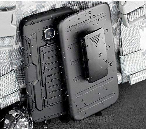 Cocomii Robot Armor Galaxy S6 Edge+ Plus Case New [Heavy Duty] Premium Belt Clip Holster Kickstand Shockproof Bumper [Military Defender] Full Body Cover for Samsung Galaxy S6 Edge+ Plus (R.Black)