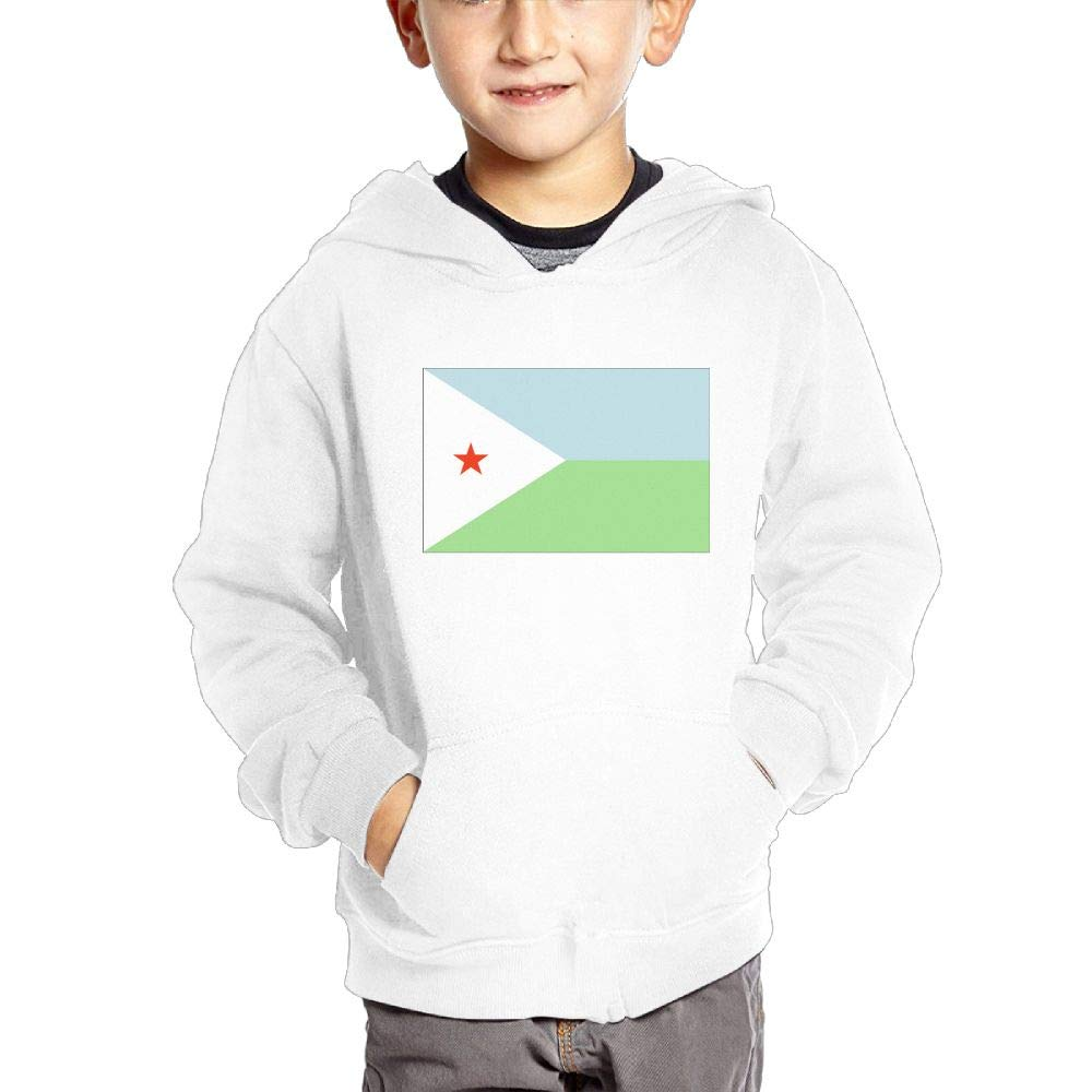JIANGSHAN Djibouti Flag Fashion Hooded Pocket Sweater for Children Spring//Autumn//Winter Outfit Long-Sleeved Hoodie