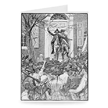 Amazon alexander hamilton addressing the mob greeting card alexander hamilton addressing the mob greeting card pack of 2 m4hsunfo