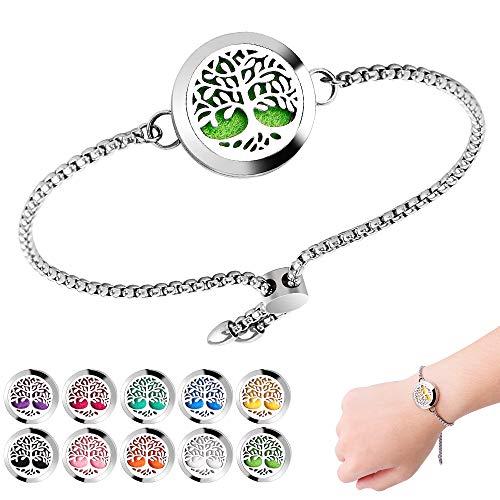 Aromatherapy Essential Oil Diffuser Bracelet Stainless Steel Locket New Design Bracelet With 10PCS Felt Pads