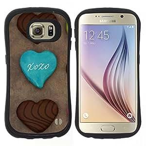 "Pulsar iFace Series Tpu silicona Carcasa Funda Case para Samsung Galaxy S6 , Cookies Chocolatae Azúcar Dulces Cafe"""