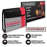 Fire Resistant Cash Box Document Bag 9 x 6 x 1.5 Heavy Duty Fiberglass - Retardant Thread - Fireproof Bag / Bank File / Important Document Holder - Retardant Envelope Heat Protection