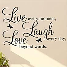 OPPOHERE Live Laugh Love Quote Vinyl Decal Removable Art Wall Stickers Home Decor