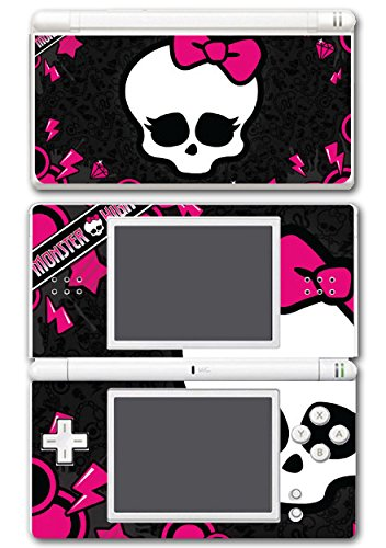 Cute Pink Skull Punk Monster Bow Tie Video Game Vinyl Decal Skin Sticker Cover for Nintendo DS Lite System