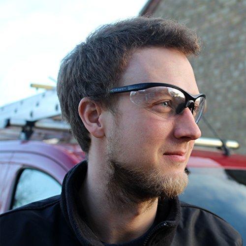 Excelente pack de 12 gafas de seguridad conpuente nasal suave.