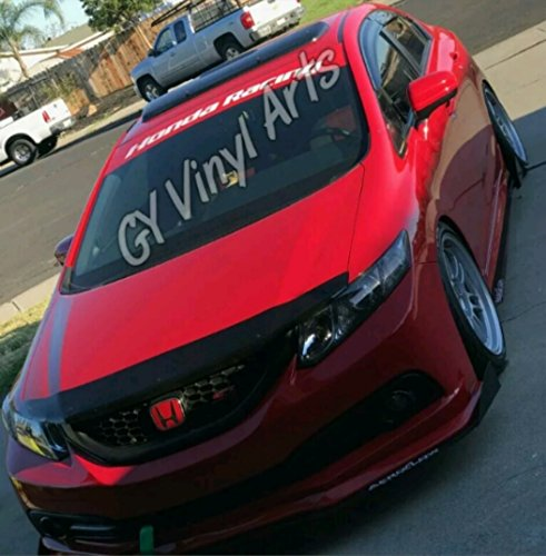 Honda Racing Windshield Sun Visor Strip Sun Shade Banners Windshield Decals Cars Stickers Vinyl Graphics Honda CIVIC DEL SOL Jdn