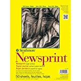 Strathmore 307018 32-Pound 50-Sheet Strathmore Smooth Newsprint Paper Pad, 18 by 24-Inch