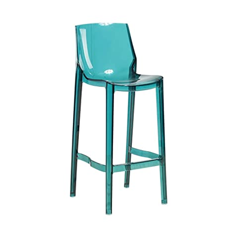 Magnificent Amazon Com Transparent Bar Stool Simple Fashion High Foot Gmtry Best Dining Table And Chair Ideas Images Gmtryco