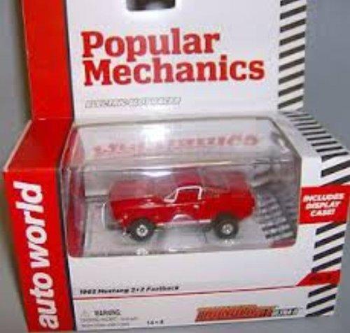(Auto World 269 1965 Mustang 2+2 Fast back Red Thunder Jet Ultra G HO Slot Car )