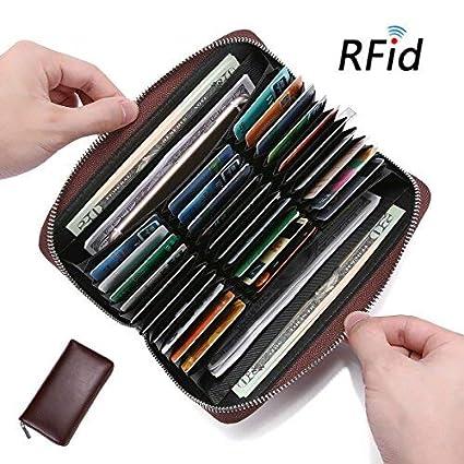 Purse Wallet De Titulaire Ekphero Multi FemmeE Portefeuille Cartes SlotsPorte Crédit Homme Zipper 36 Carte Bit Rfid Blocage PuZiOkX