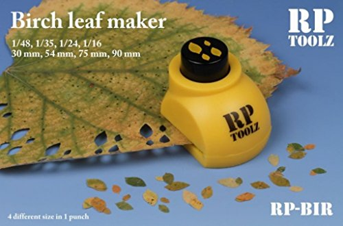 RP Toolz Birch Leaf Maker in 4 Size 1:48 1:35 1:24 1:16 30/54/75/90 mm #RP-BIR