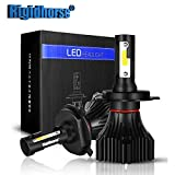 H4 LED Headlight Bulb with Conversion Kit S10-Series 60W 6000LM 6500K Cool White Hi/Lo Beam Headlight Bulbs-1 year warranty
