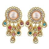 Maayra Designer Earrings Multicolour Dangler Drop College Fashion Earrings