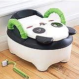 Toilettes pour enfants Seat Baby Toddler Trainer Potty Toilet Seat (Panda - Black)