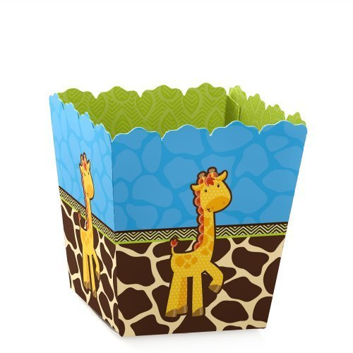 (Giraffe Boy - Party Mini Favor Boxes - Baby Shower or Birthday Party Treat Candy Boxes - Set of 12)