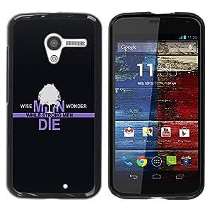 Be Good Phone Accessory // Dura Cáscara cubierta Protectora Caso Carcasa Funda de Protección para Motorola Moto X 1 1st GEN I XT1058 XT1053 XT1052 XT1056 XT1060 XT1055 // Wise Men W