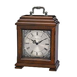 Bulova Document Tabletop Clock, 12, Brown