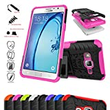 Asus Zenfone 2 Laser 5.5 Case,Mama Mouth Shockproof Heavy Duty Combo Hybrid Rugged Dual Layer Grip Cover with Kickstand For Asus Zenfone 2 Laser 5.5 ZE550KL(With 4 in 1 Free Gift Packaged),Pink
