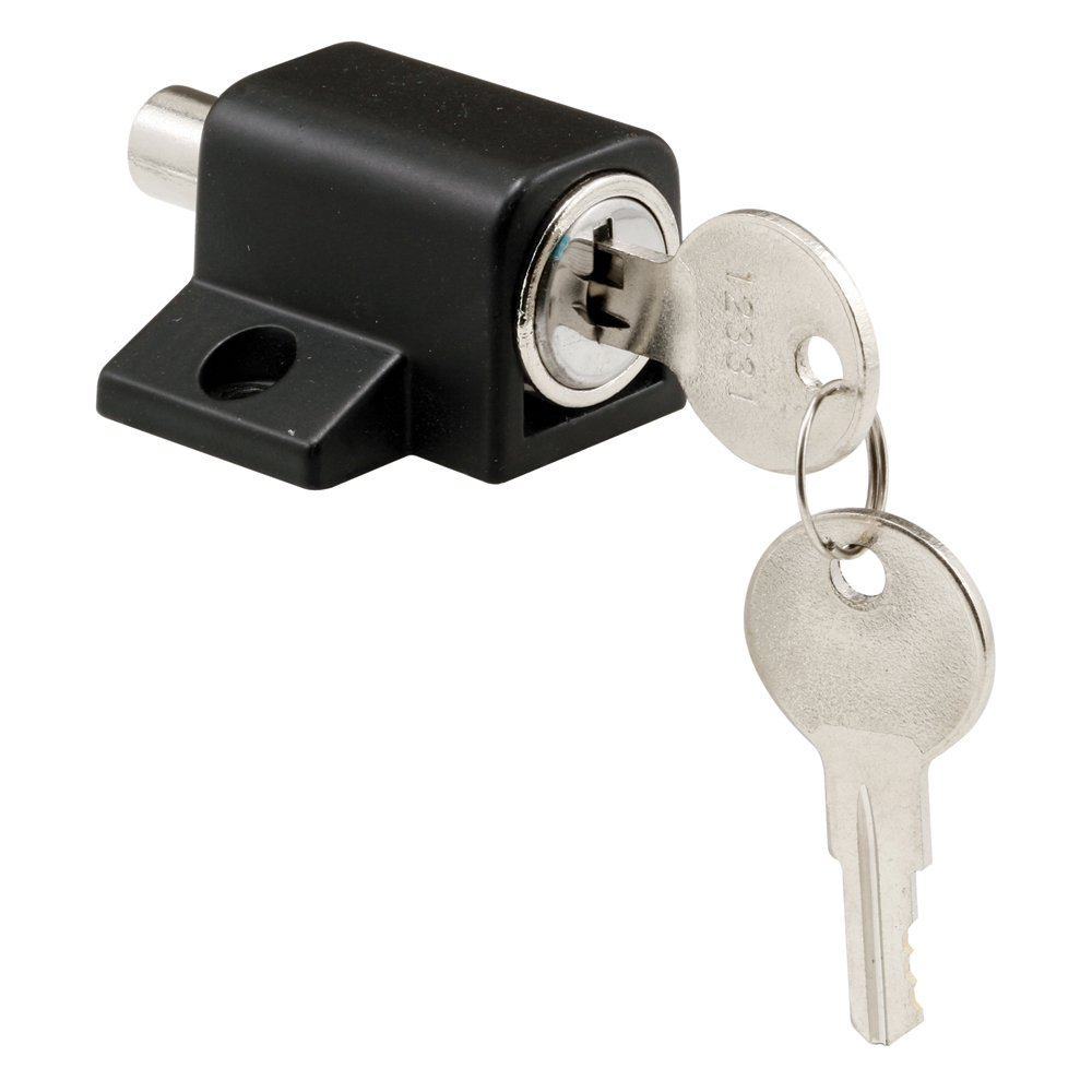Defender securityproducts s 4005 push in sliding door keyed lock defender securityproducts s 4005 push in sliding door keyed lock black finish cabinet and furniture locks amazon planetlyrics Image collections