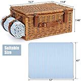 Picnic Basket Set for 2 Persons, Willow Hamper with